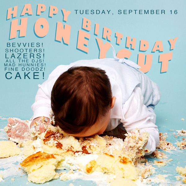 Honeycut 1 Year Anniversary, September 16, 2014